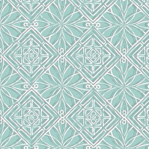 Hawaiian Quilt Aqua Blue
