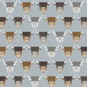 ox on gray - small