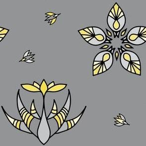 Hopeful Illuminating Flowering Plants Yellow and Gray