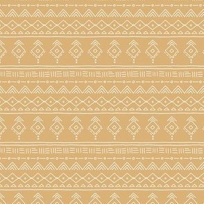 Minimal boho mudcloth bohemian ethnic abstract indian summer aztec design nursery mustard yellow gender neutral mini