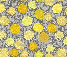 Dahlia dream - Yellow And Gray