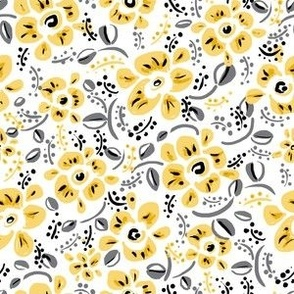 modern yellow flowers