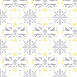 Yellow and grey portuguese tiles