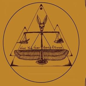 Talisman Anubis Heart vs feather medallian