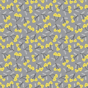 In love with yellow and gray
