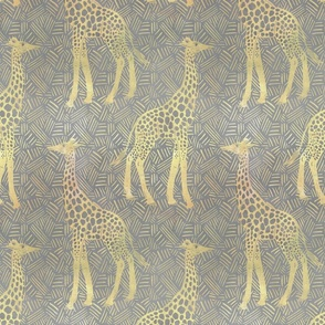 Large scale- Gentle Giraffes - Grey
