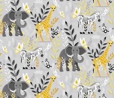 Safari Yellow and Grey light background medium scale