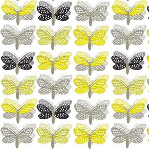 Happy Butterflies white
