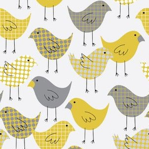 Yellow and Gray Patterned Birds