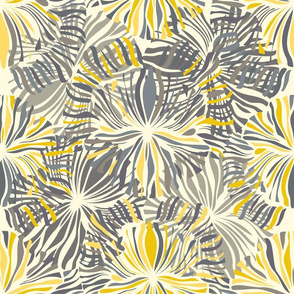 Grey and Yellow Flowers