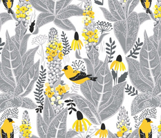 Mullein and goldfinch