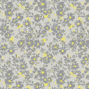 LG Ditsy grey and yellow silhouette
