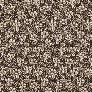 Trumpet Flower Grid - Medium - Dark Oak