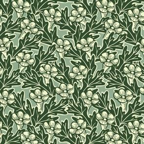 Trumpet Flower Grid - Large - Jade