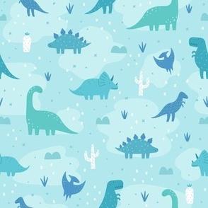 Dinos in blue