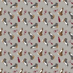 Tiny Appenzeller Sennenhund - wine