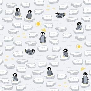 Penguins in Sun