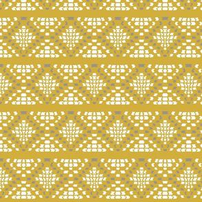 Idris mosaic-mustard and gray