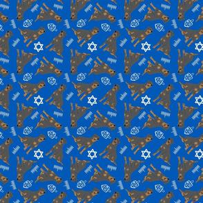 Tiny tailed Rottweiler - Hanukkah