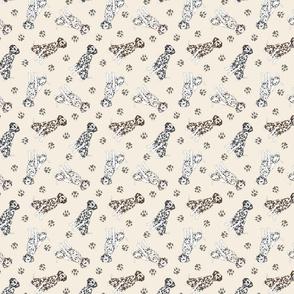 Tiny Dalmatians - tan