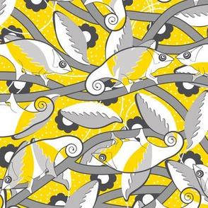 Chameleon yellow-white-gray