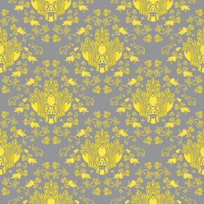 Mayura Raksha in Yellow & Grey (small)