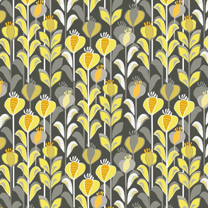 gray-yellow meadow