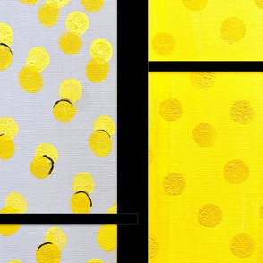 Yellow Gray Panels