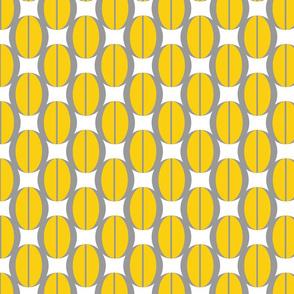 yellow and grey jewels circular geometrics