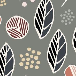 Indigenous Flora - Olive Grey - XLarge