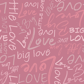 Big Little Love - Pink Larger Scale