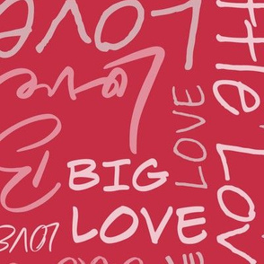Big Little Love - Red Pink Larger Scale