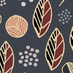 Indigenous Flora - Slate Grey -Xarge