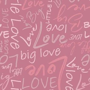 Big Little Love - Pink Medium Scale