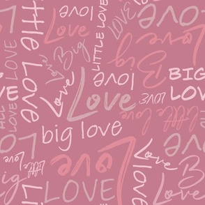 Big Little Love - Pink Medium Scale
