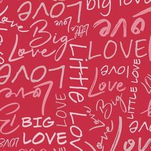 Big Little Love - Red Pink Medium Scale