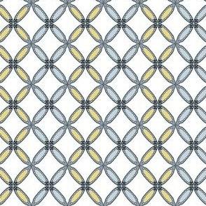 Yellow  & Gray Rosette