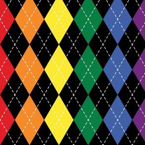 Rainbow Argyle - Large (Rainbow Collection)