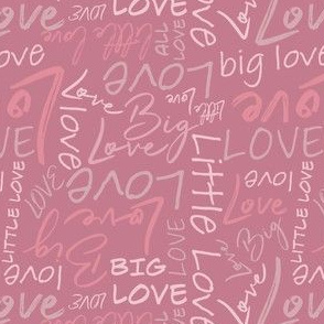 Big Little Love - Pink Small Scale