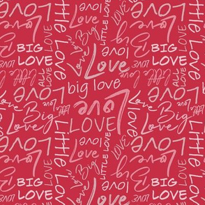 Big Little Love - Red Pink Small Scale