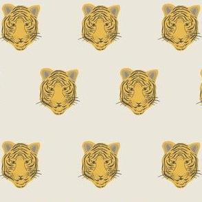 yellow tiger on gray