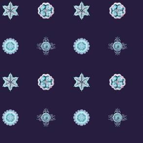 Jellyfish Tiny Dots on blue