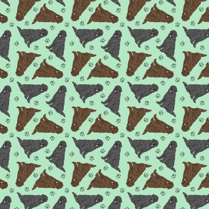 Tiny Newfoundlands - green