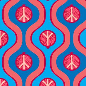 """Pomegranate Peace -  10"""""""