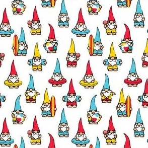 (small scale) summer gnomes - summertime/beach - red/blue/yellow - LAD21