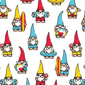 summer gnomes - summertime/beach - red/blue/yellow - LAD21