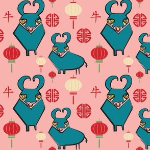 Year of the OX Pink