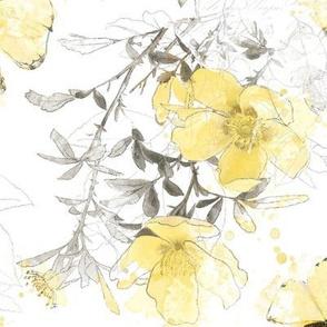 Yellow Rose Gray Day