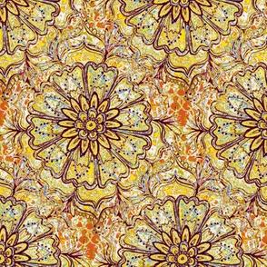 yellow mandala flower