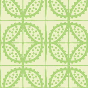 Spotty Pod-like Tile! (lemon-lime & lime)